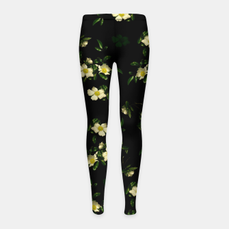 Thumbnail image of Cherokee White Roses Girl's Leggings, Live Heroes