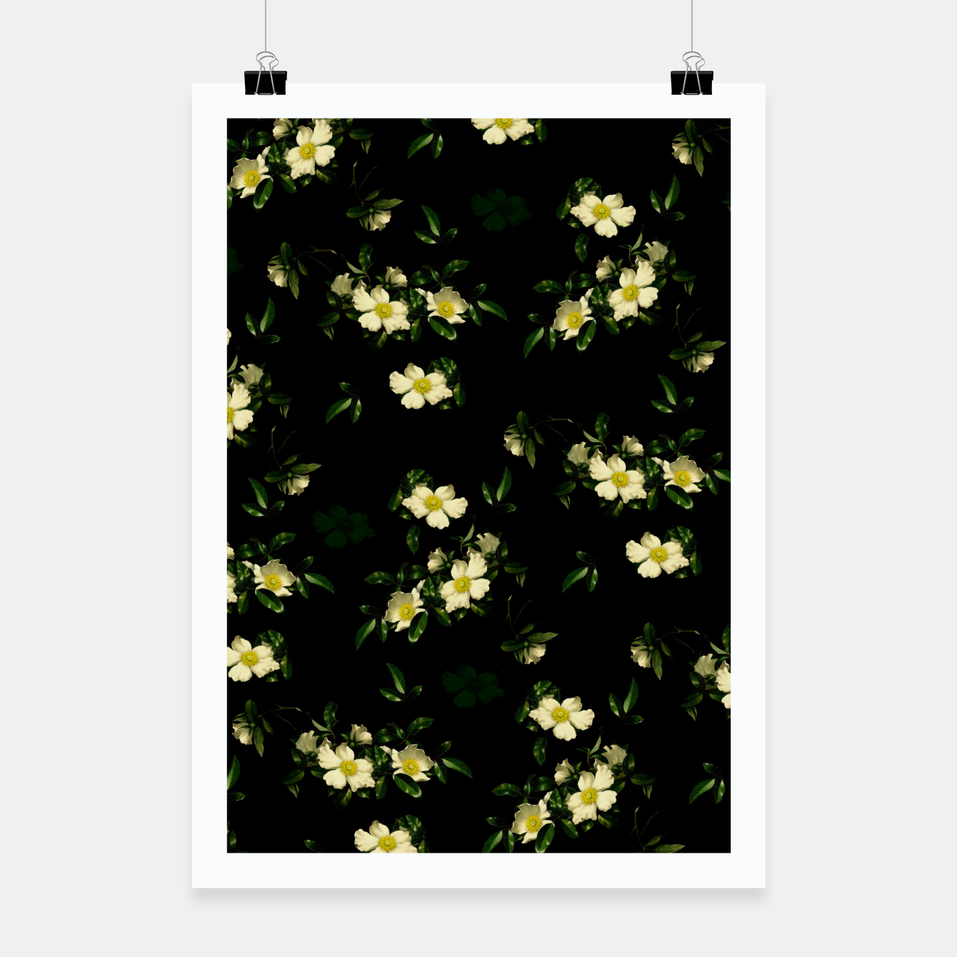 Image of Cherokee White Roses Poster - Live Heroes