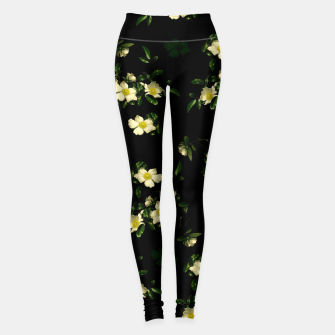 Thumbnail image of Cherokee White Roses Leggings, Live Heroes