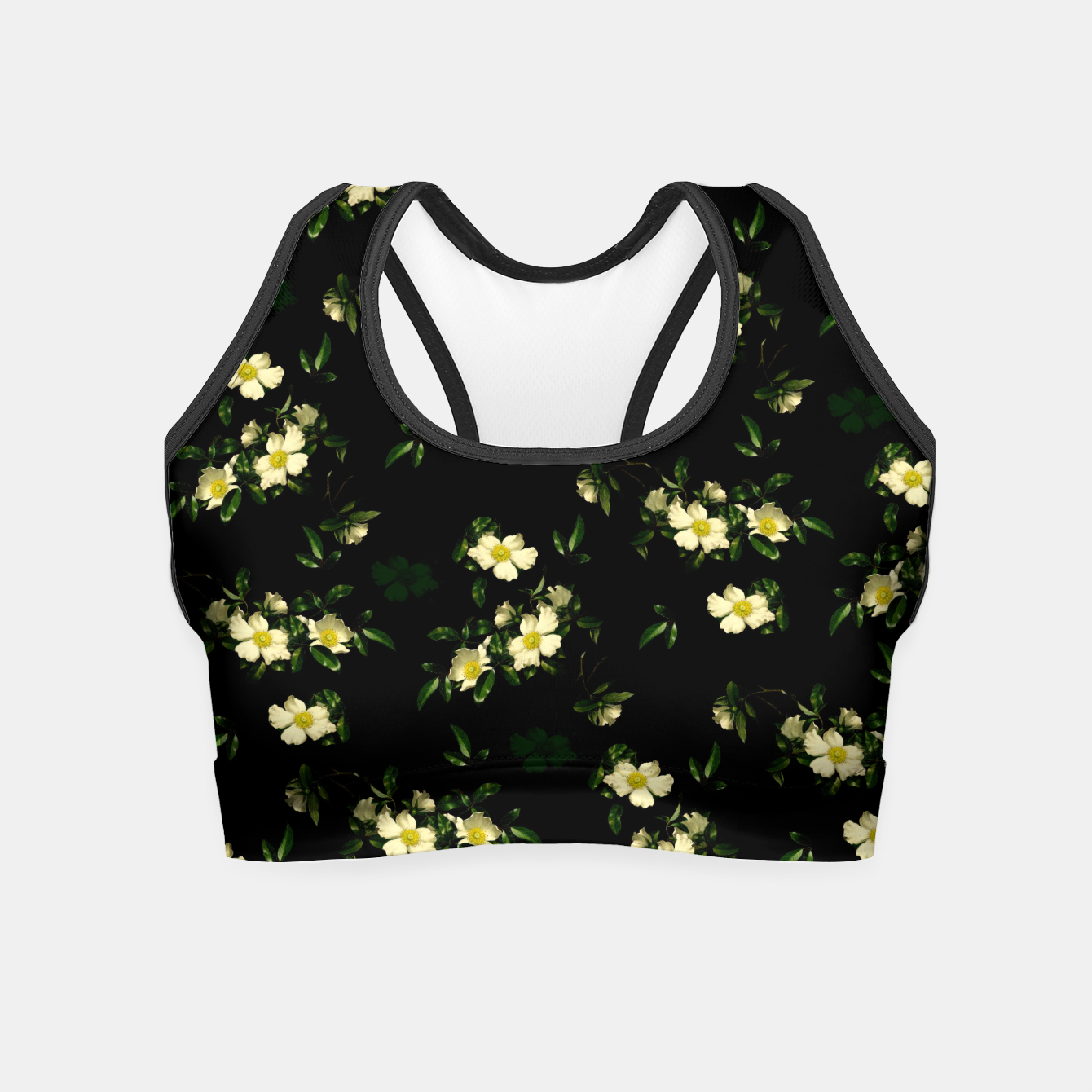 Image of Cherokee White Roses Crop Top - Live Heroes
