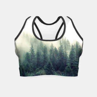 Thumbnail image of Calming Forest Scene Wood Landscape Crop Top, Live Heroes