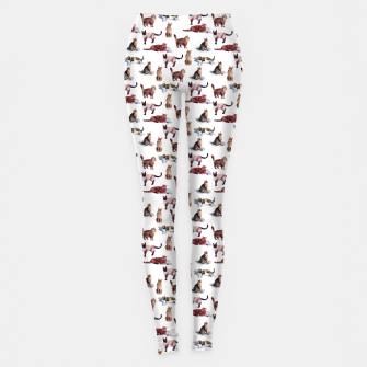 "Miniatur ""Watercolor cats"" (white) Leggings, Live Heroes"