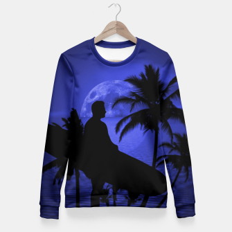 Thumbnail image of Twilight Longboard Surfer Dude Fitted Waist Sweater, Live Heroes