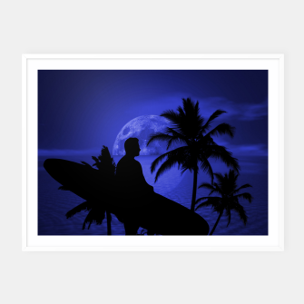 Thumbnail image of Twilight Longboard Surfer Dude Framed poster, Live Heroes