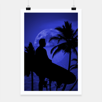 Thumbnail image of Twilight Longboard Surfer Dude Poster, Live Heroes