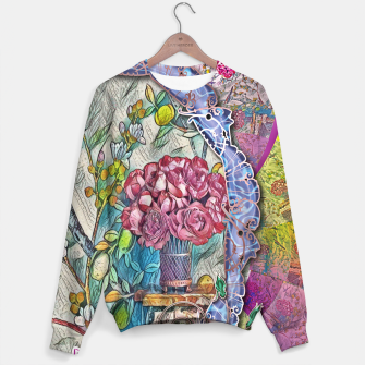 Thumbnail image of Bird and Flower Collage Sweater, Live Heroes