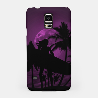 Thumbnail image of Pink Twilight Moon Longboard Surfer Chick  Samsung Case, Live Heroes