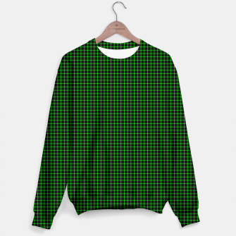 Thumbnail image of Neon Green Magic Grid Dont Enter the Matrix - Wear It  Unisex sweater, Live Heroes