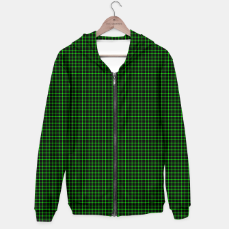 Thumbnail image of Neon Green Magic Grid Dont Enter the Matrix - Wear It  Zip up hoodie, Live Heroes