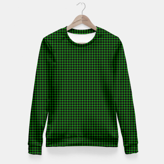 Thumbnail image of Neon Green Magic Grid Dont Enter the Matrix - Wear It  Women sweater, Live Heroes