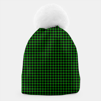 Thumbnail image of Neon Green Magic Grid Dont Enter the Matrix - Wear It  Beanie, Live Heroes