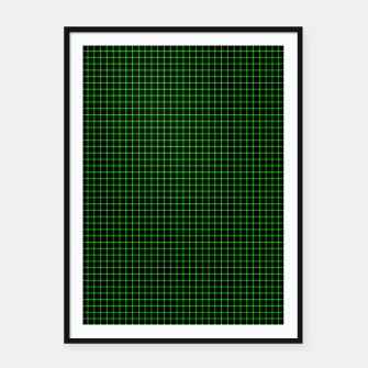 Thumbnail image of Neon Green Magic Grid Dont Enter the Matrix - Wear It  Framed poster, Live Heroes
