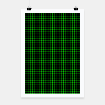 Thumbnail image of Neon Green Magic Grid Dont Enter the Matrix - Wear It  Poster, Live Heroes