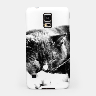 Cute Sleepy Kitty Samsung Case thumbnail image