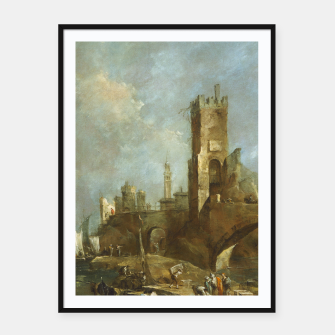 Thumbnail image of Capriccio of a Harbor Framed poster, Live Heroes