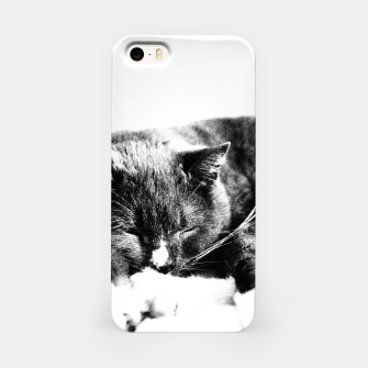 Cute Sleepy Kitty iPhone Case thumbnail image