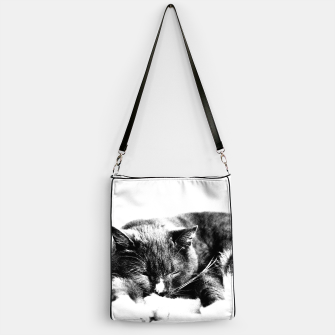 Thumbnail image of Cute Sleepy Kitty Handbag, Live Heroes