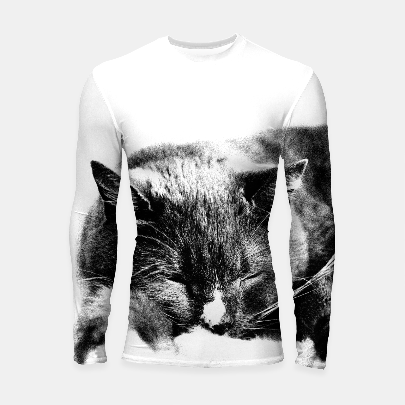 Image of Cute Sleepy Kitty Longsleeve Rashguard  - Live Heroes