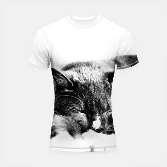 Thumbnail image of Cute Sleepy Kitty Shortsleeve Rashguard, Live Heroes