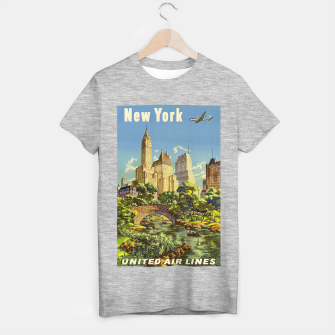 Thumbnail image of New York United Air Lines Vintage Poster T-shirt regular, Live Heroes