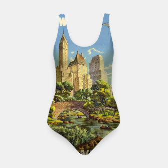 Thumbnail image of New York United Air Lines Vintage Poster Swimsuit, Live Heroes