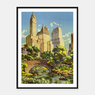 Thumbnail image of New York United Air Lines Vintage Poster Framed poster, Live Heroes