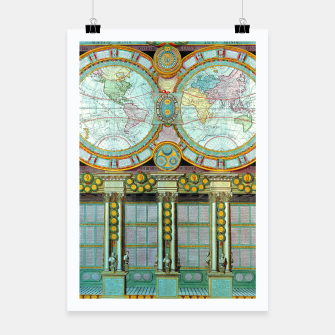 Thumbnail image of Nouveau Monde Old Cartographic Maps Poster, Live Heroes