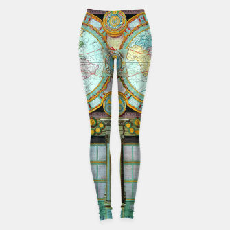 Thumbnail image of Nouveau Monde Old Cartographic Maps Leggings, Live Heroes
