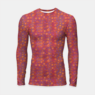 Thumbnail image of Candy Field, abstract floral, pink &orange Longsleeve Rashguard , Live Heroes
