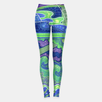 Thumbnail image of Dream of the Full moon, underwater fantasy, surreal art Leggings, Live Heroes