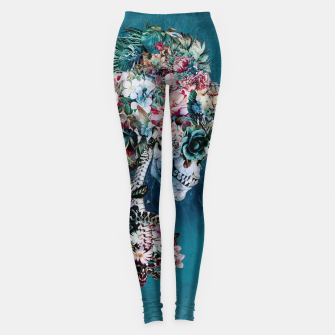 Thumbnail image of Floral Skull RP Leggings, Live Heroes