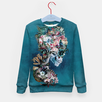 Thumbnail image of Floral Skull RP Kid's Sweater, Live Heroes