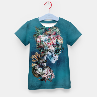 Thumbnail image of Floral Skull RP Kid's T-shirt, Live Heroes