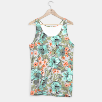 Thumbnail image of Flowers watercolor pattern Tank Top, Live Heroes