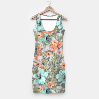 Thumbnail image of Flowers watercolor pattern Simple Dress, Live Heroes