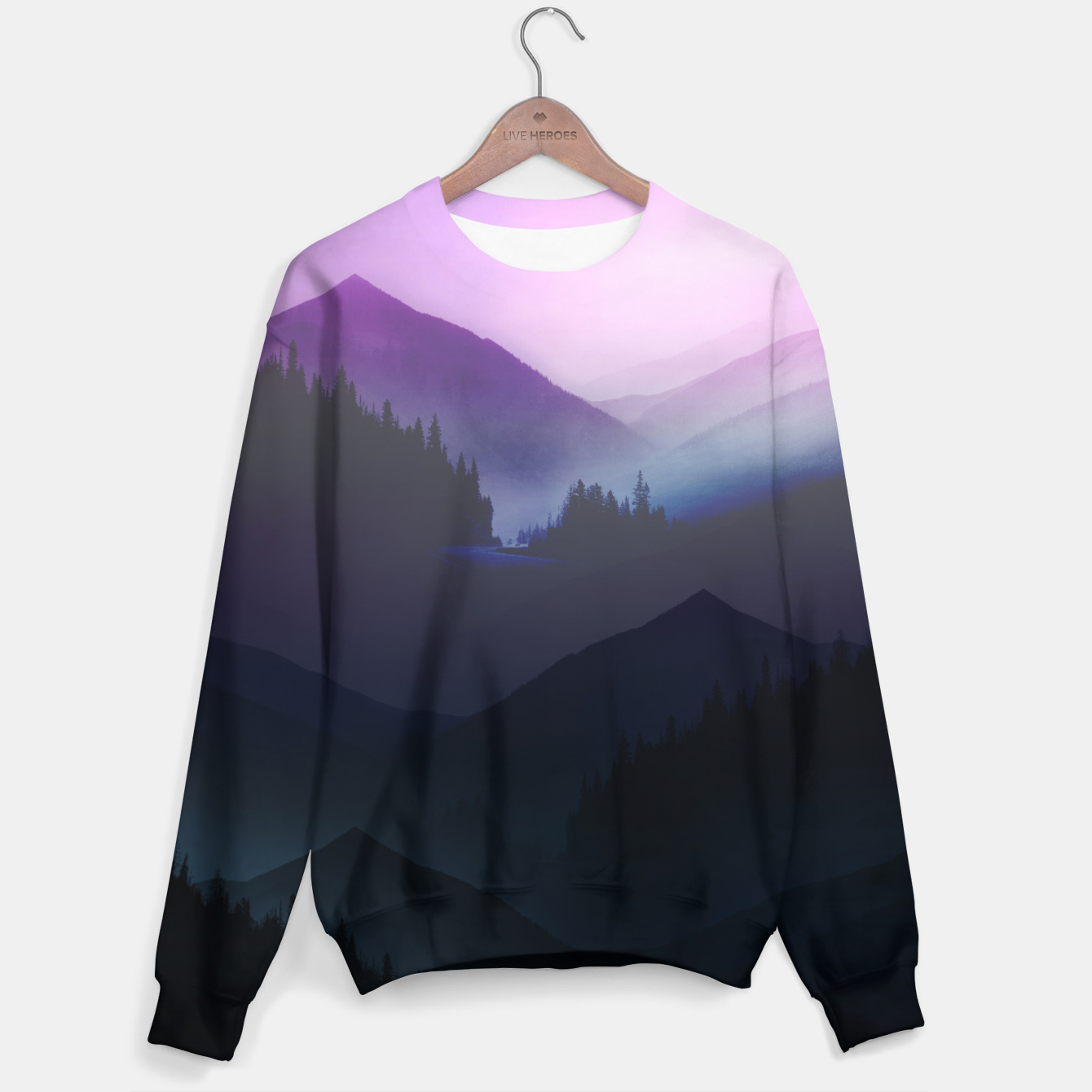 Image of Purple Misty Mountains Sweater - Live Heroes