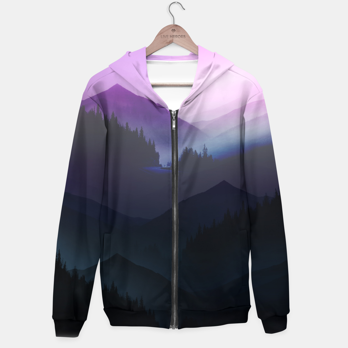 Image of Purple Misty Mountains Hoodie - Live Heroes