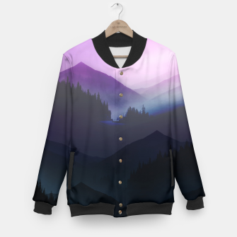 Thumbnail image of Purple Misty Mountains Baseball Jacket, Live Heroes