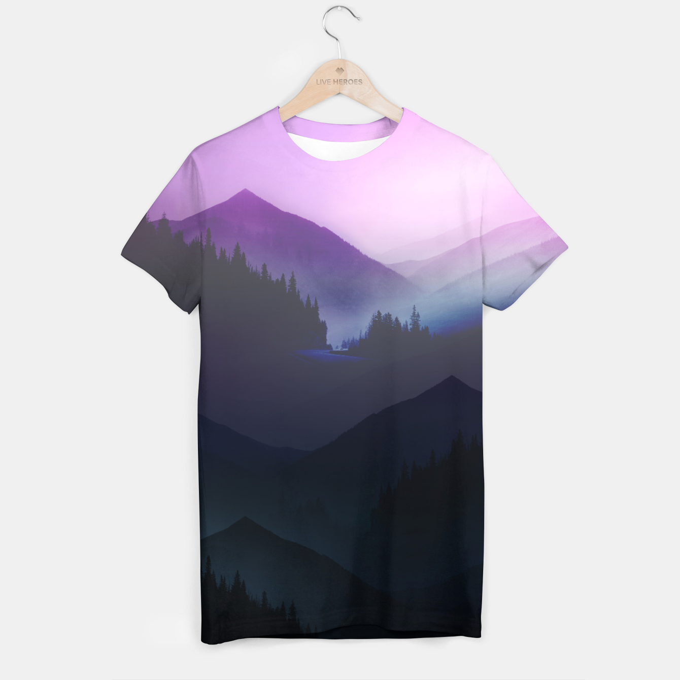 Image of Purple Misty Mountains T-shirt - Live Heroes
