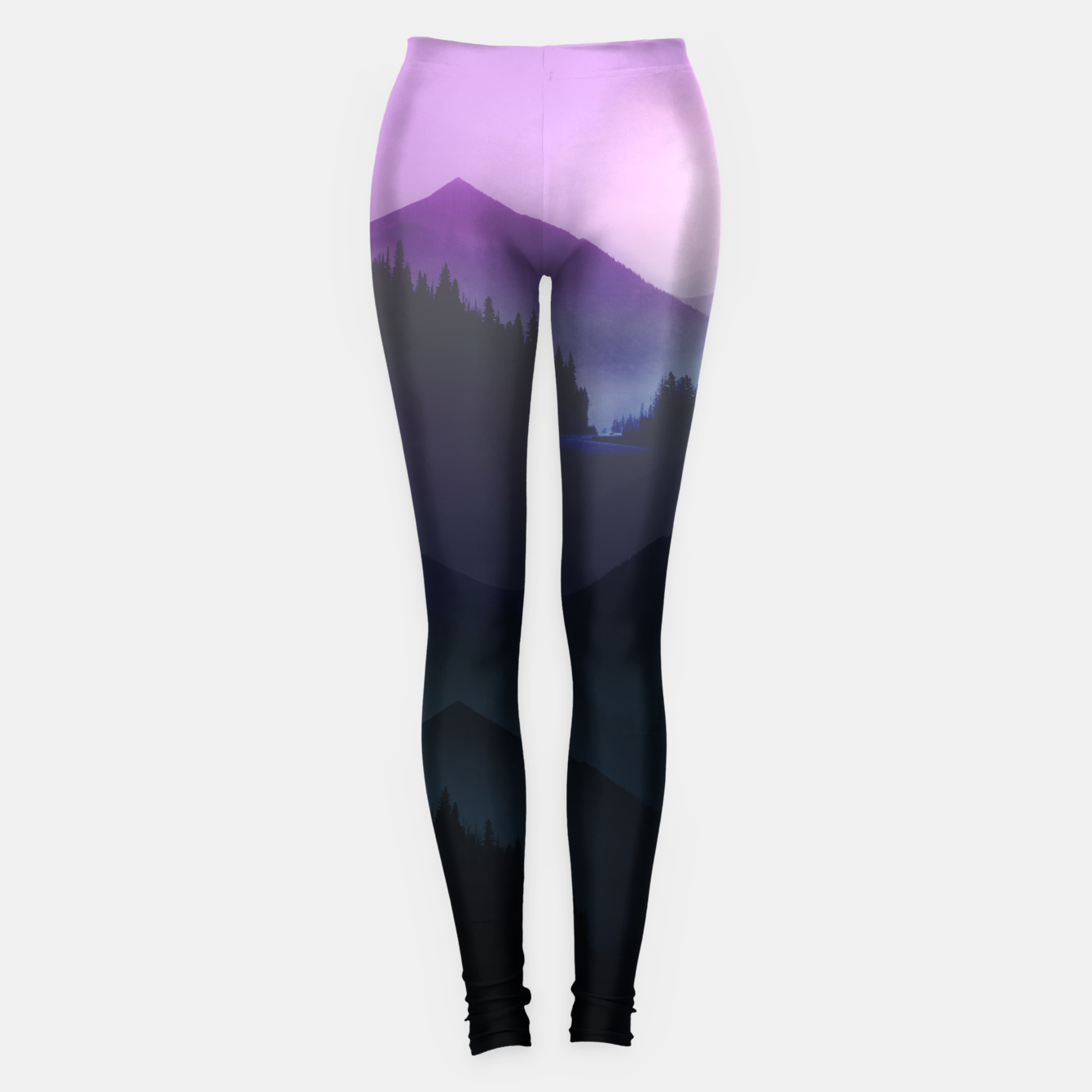 Image of Purple Misty Mountains Leggings - Live Heroes