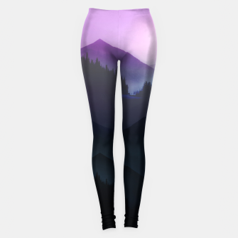 Thumbnail image of Purple Misty Mountains Leggings, Live Heroes