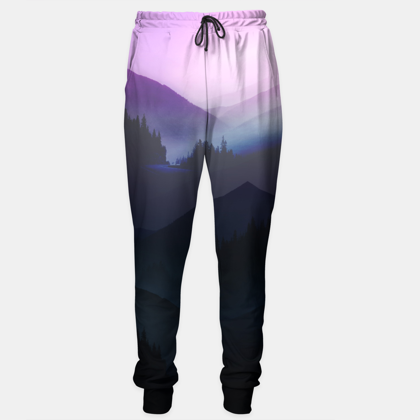 Image of Purple Misty Mountains Sweatpants - Live Heroes