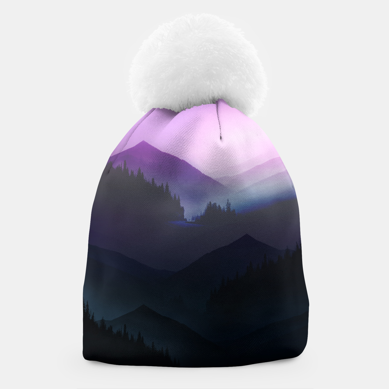 Image of Purple Misty Mountains Beanie - Live Heroes