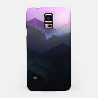 Purple Misty Mountains Samsung Case thumbnail image