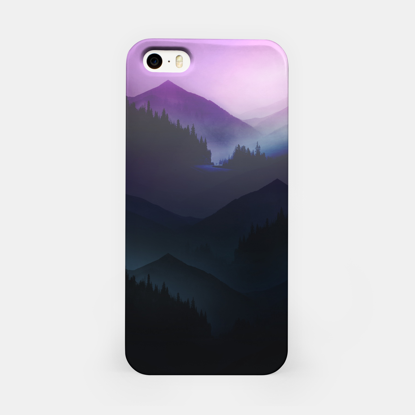 Image of Purple Misty Mountains iPhone Case - Live Heroes