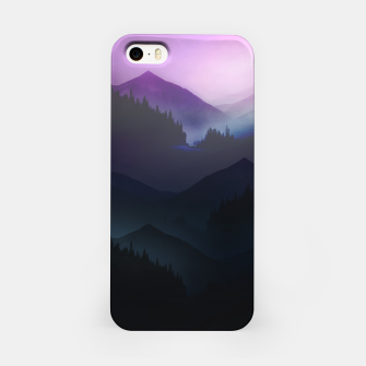 Purple Misty Mountains iPhone Case thumbnail image