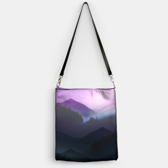 Thumbnail image of Purple Misty Mountains Handbag, Live Heroes