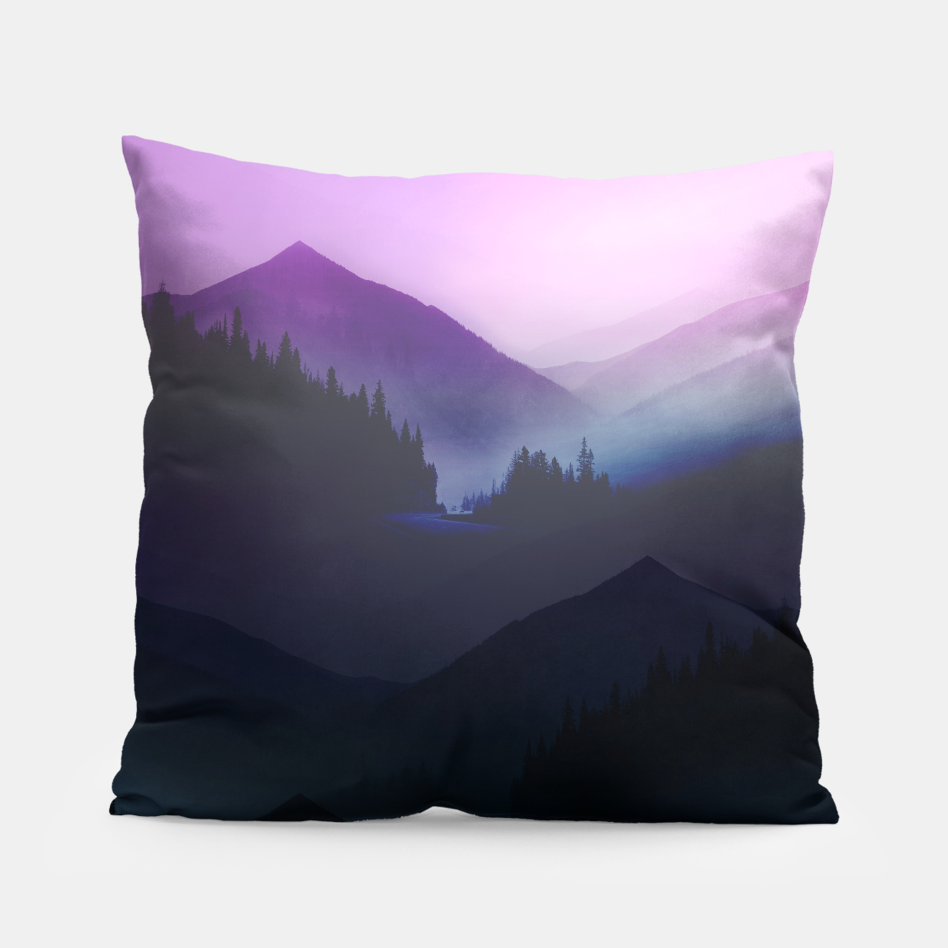 Image of Purple Misty Mountains Pillow - Live Heroes