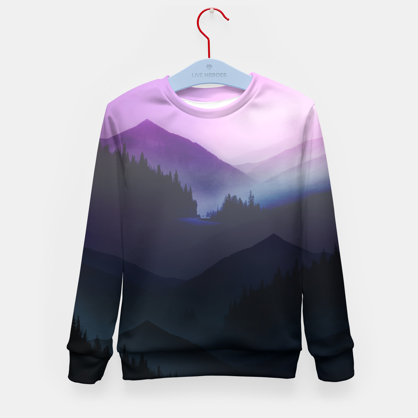 Image of Purple Misty Mountains Kid's Sweater - Live Heroes