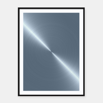 Thumbnail image of Cold Blue Steel Machined Metal  Framed poster, Live Heroes